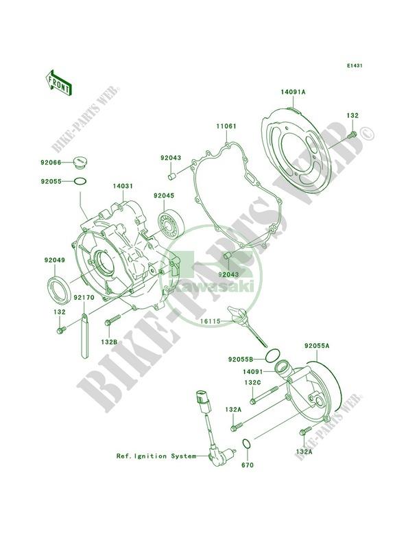 Engine Covers for Kawasaki Prairie 360 4X4 2006 # KAWASAKI - Genuine Spare  Parts Catalog OnlineKawasaki Genuine Spare Parts Catalogue