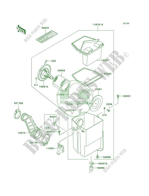 1989 Kawasaki Bayou 300 Wiring Diagram