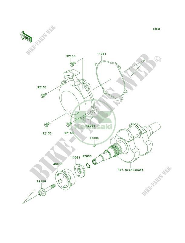 kawasaki prairie 650 crankshaft parts diagram  kawasaki