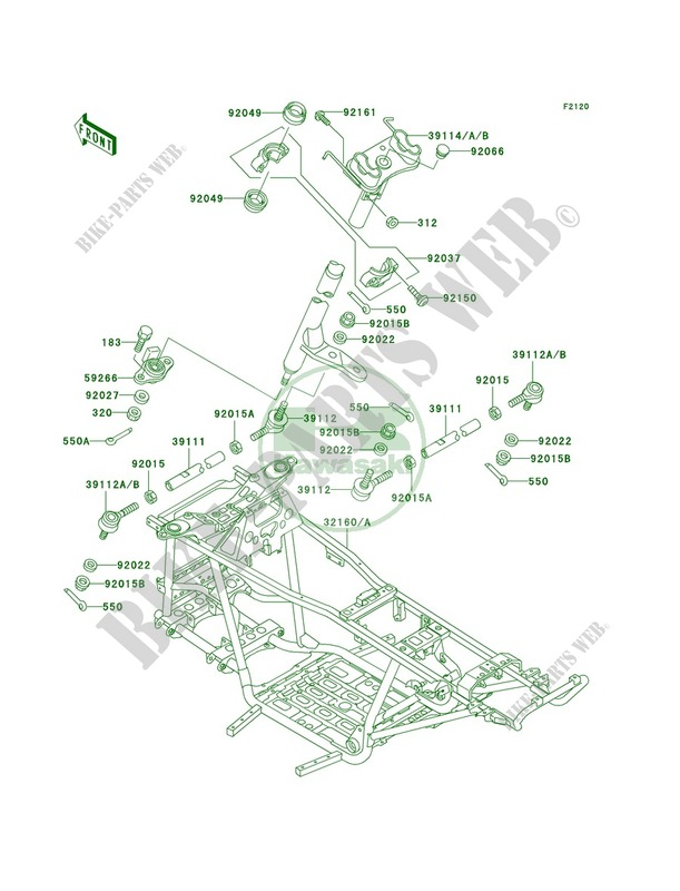 kawasaki prairie 300 wiring diagram model kvf300b