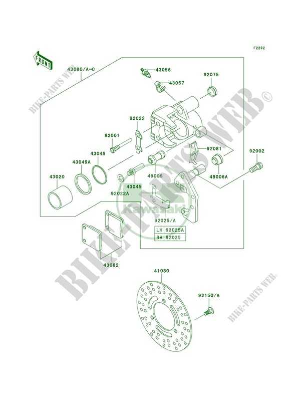Kawasaki Prairie 300 Parts Diagram