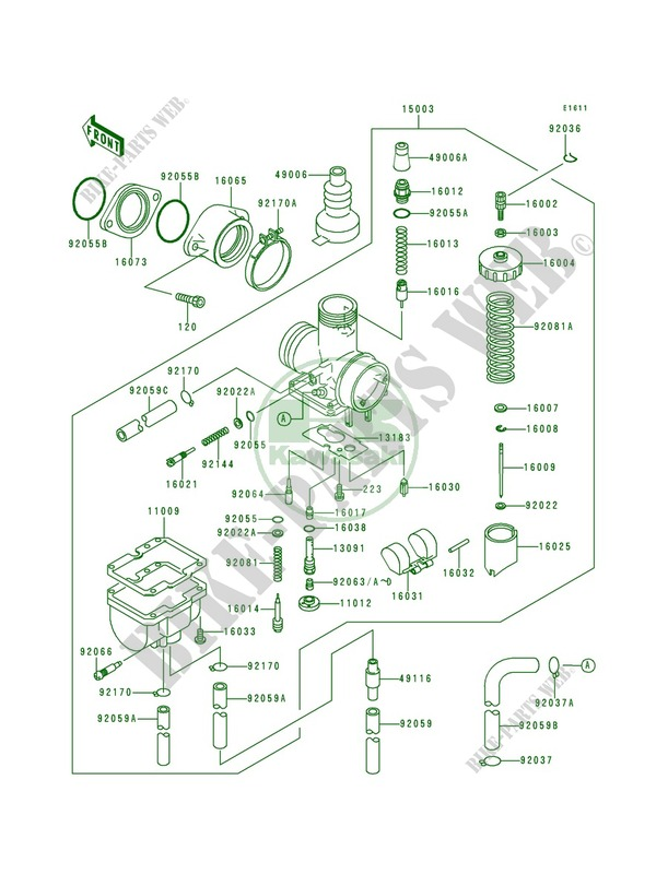 31 Kawasaki Bayou 220 Carb Diagram