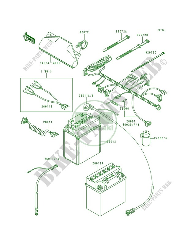 Kawasaki Bayou 300 Klf300a Wiring Diagrams - Wiring Diagrams ... on