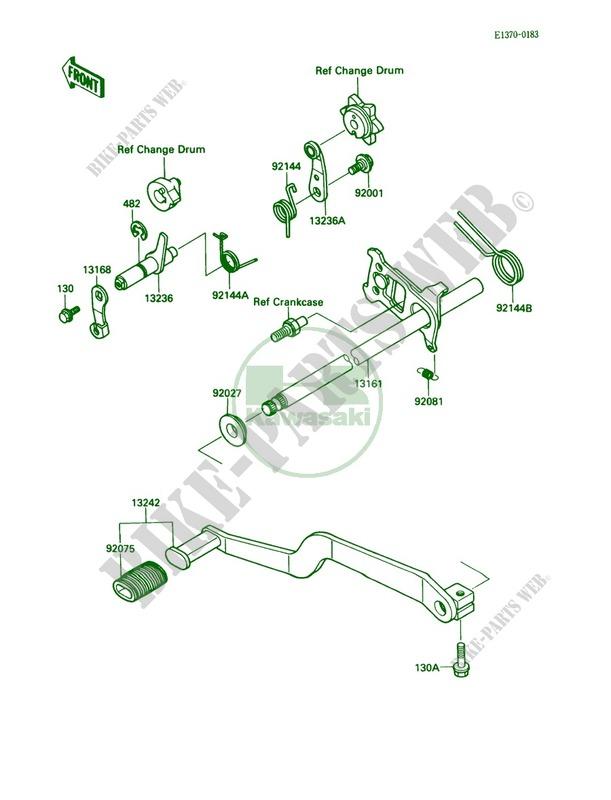 Kawasaki Bayou 220 Parts Diagram