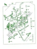 carburetor kawasaki mule 1000 2007 450 kaf450-b1 20999 - kawasaki