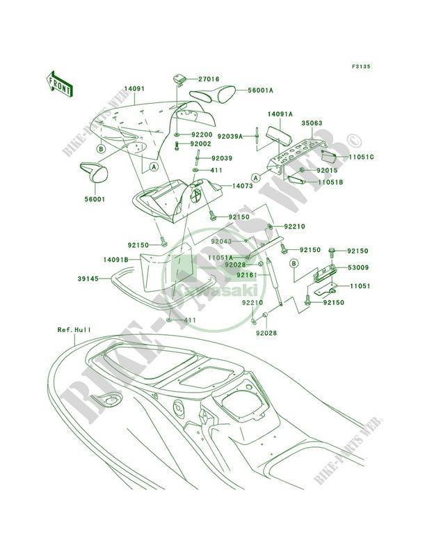 Hull Front Fittings Kawasaki JET SKI 900 2003 900 STX JT900 D1 20 kawasaki 900 stx wiring diagram trusted wiring diagram online