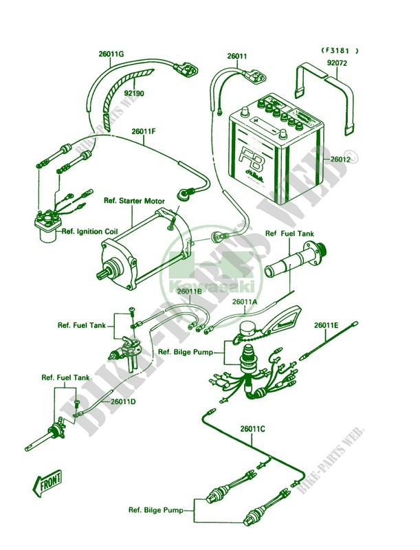 Kawasaki Jet Ski 650 1991 Mate Jb650a3 Electrical Equipment: Kawasaki Jet Mate Wiring Diagram At Hrqsolutions.co