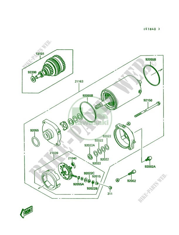 Kawasaki Jet Ski 650 1991 Mate Jb650a3 Starter Motor: Kawasaki Jet Mate Wiring Diagram At Hrqsolutions.co