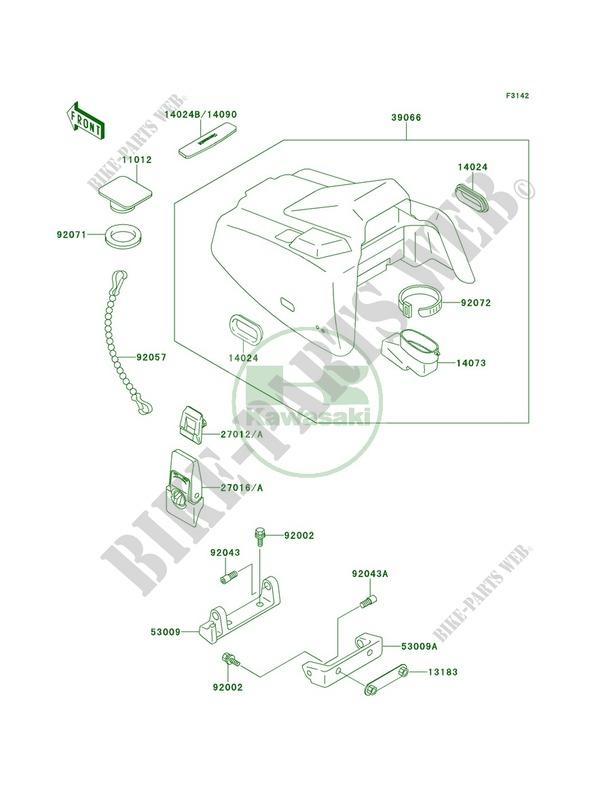 Engine Hood for Kawasaki X2 1991 # KAWASAKI - Genuine Spare Parts Catalog  OnlineKawasaki Genuine Spare Parts Catalogue