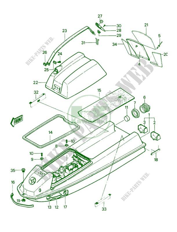 Kawasaki 440 Jet Ski Parts Diagram Wiring Diagrams Wni