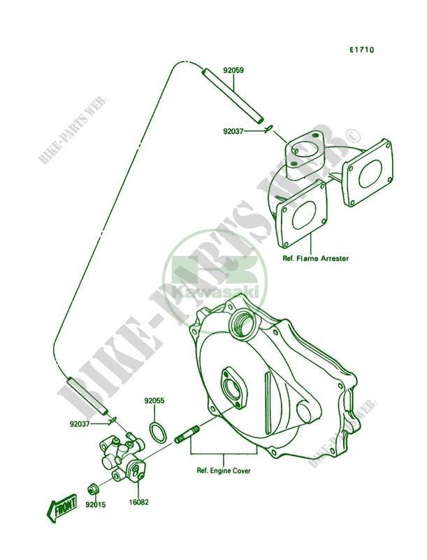 Oil Pump for Kawasaki X2 1989 # KAWASAKI - Genuine Spare Parts Catalog  OnlineKawasaki Genuine Spare Parts Catalogue