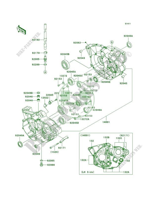 Crankcase Kawasaki KX250F 2011 250 KX250YBF 19917 KAWASAKI – Kx250f Engine Diagram