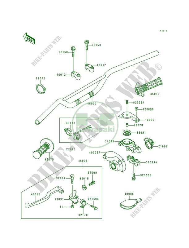 Kawasaki BAND-ASSYENGINE STOP 39183-1059