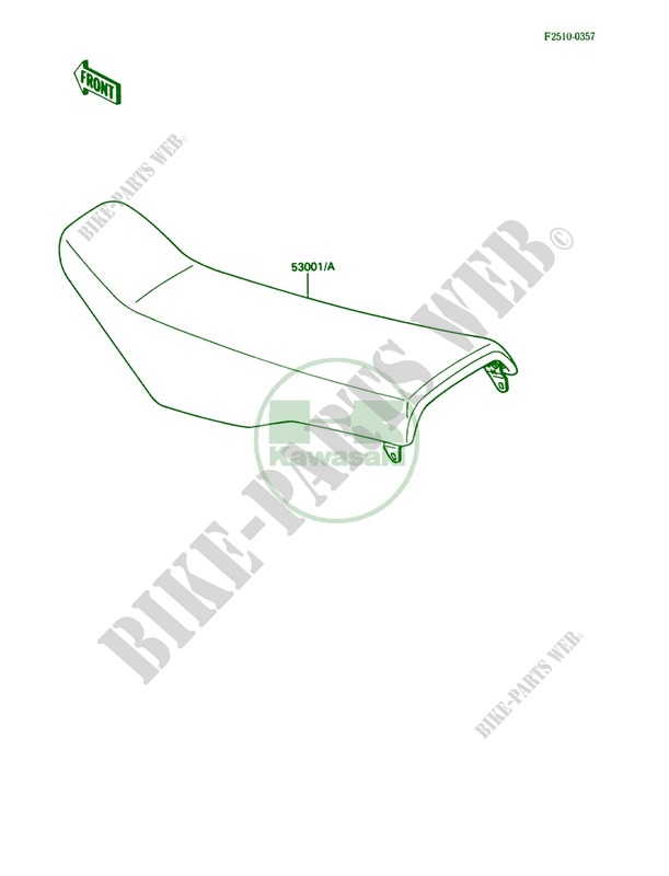 Seat for Kawasaki KX80 1990