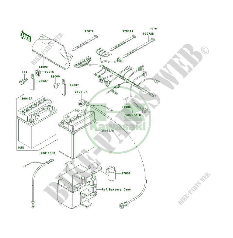 chassis electrical equipment klf300 c11 klf300 4x4 1999 300 quad rh bike parts kawa com