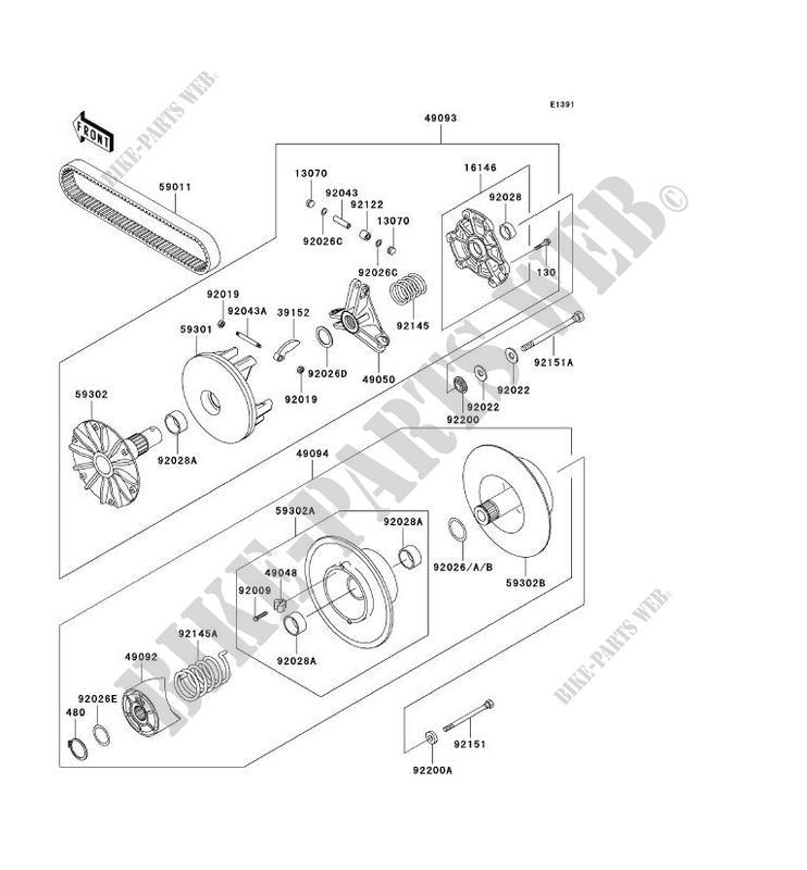 KAWASAKI KVF400 4x4 NEW QUAD Converter Belt