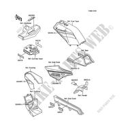 LABELS for Kawasaki AR125 1989