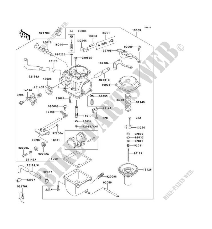 Kawasaki Motos 125 2001 Eliminator Bn125a4 Carburetor: Kawasaki Bn125 Eliminator Wiring Diagram At Jornalmilenio.com
