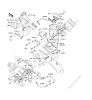 FRAME PARTS (COUVERTURE) EJ650 C4 650 kawasaki-motorcycle 2002 W650 E_05