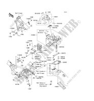 FRAME PARTS (COUVERTURE) for Kawasaki W800 2012