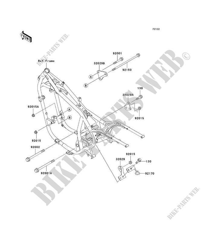 Engine Mount For Kawasaki En500 Ltd 2003 Kawasaki Genuine Spare Parts Catalog Online