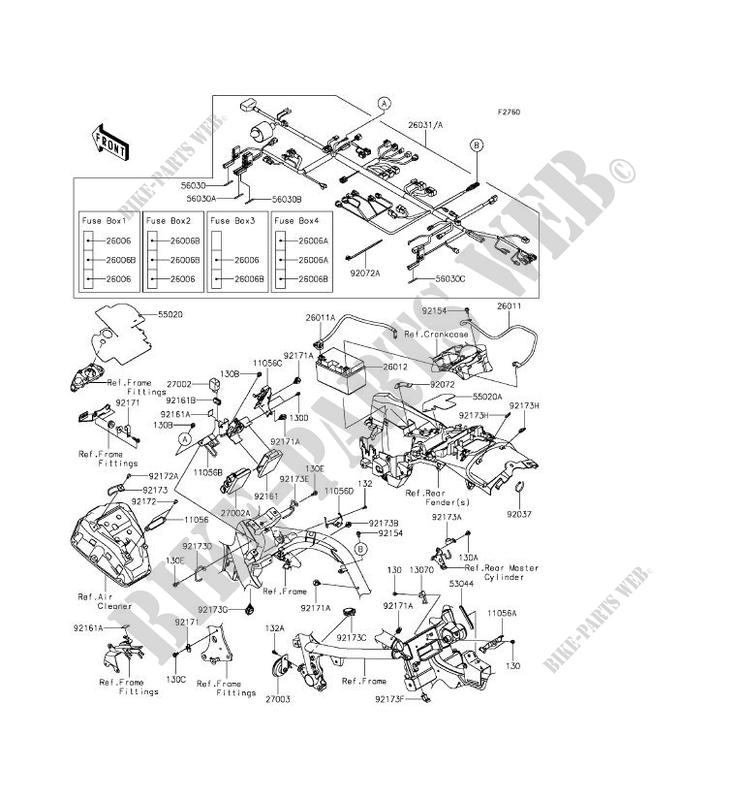 Kawasaki Motos 650 2015 Vulcan S En650aff Chassis Electrical Equipment: Kawasaki Vulcan S Wiring Diagram At Hrqsolutions.co