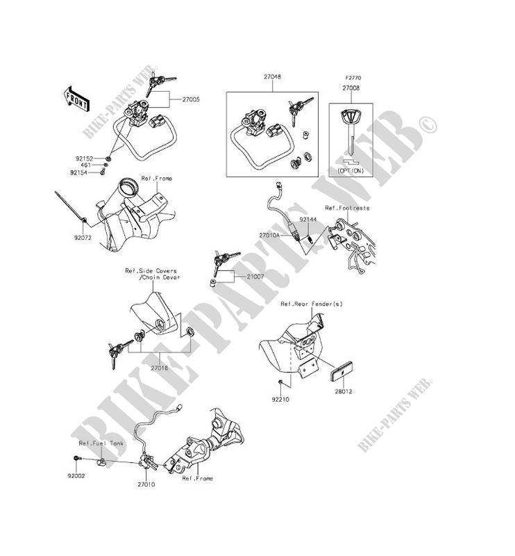 Kawasaki KEY-LOCKBLANK 27008-0596