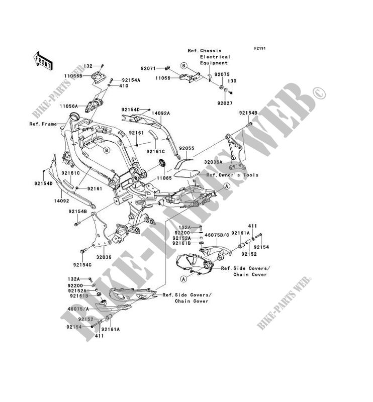 FRAME PARTS (COUVERTURE) for Kawasaki ER-6N 2012