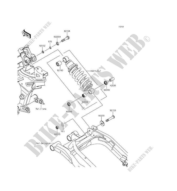 Schwinn Solution 650 Parts Catalog : Suspension shock absorber kawasaki er n