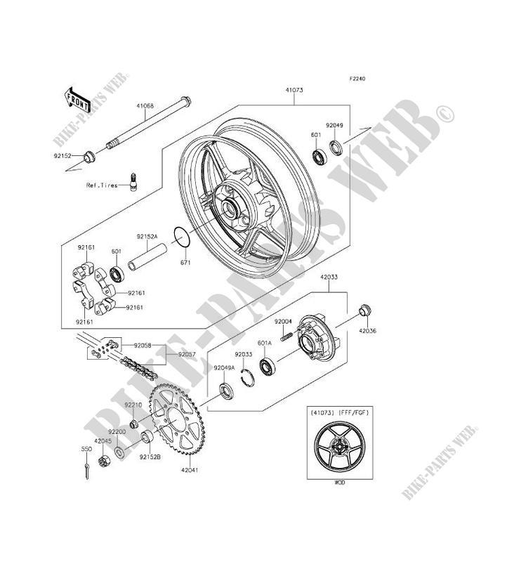 ER650 17-18 Rear Wheel Bearings /& Seals for Kawasaki Z650