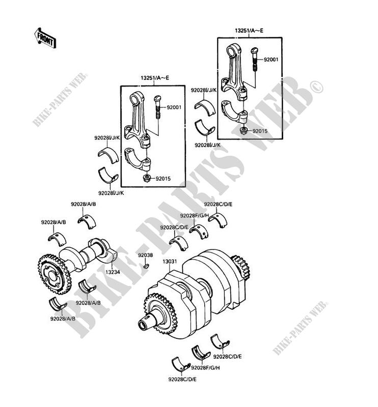 CRANKSHAFT for Kawasaki NINJA 250R 1990 # KAWASAKI - Genuine ... on klr 650 wiring diagram, kawasaki 400 wiring diagram, kawasaki mojave 250, ezgo wiring diagram, kawasaki 500 wiring diagram, kawasaki 250 parts diagram, triton trailer wiring diagram, kawasaki 750 wiring diagram, kawasaki 100 wiring diagram, kawasaki bayou 300 wiring diagram, kawasaki atv wiring diagram, kawasaki mule wiring-diagram, kawasaki ignition system wiring diagram, kawasaki bayou 185 wiring-diagram, kawasaki 4 wheeler wiring diagram, kawasaki engine wiring diagrams, suzuki marauder wiring diagram, kawasaki kz1000 wiring-diagram, kawasaki motorcycle wiring diagrams, kawasaki bayou 220 wiring diagram,