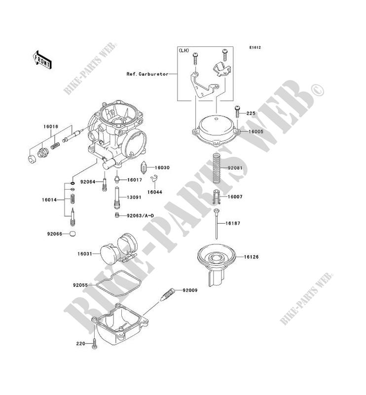 carburetor parts ex250 h12 zzr250 2001 250 motos kawasaki