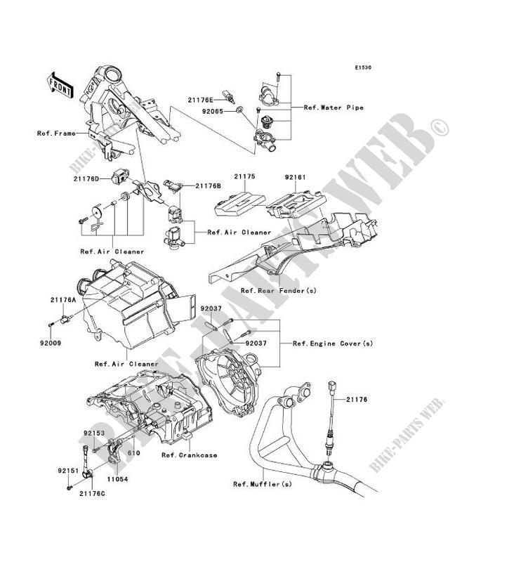 2008 Kawasaki Ninja 250r Parts Diagram