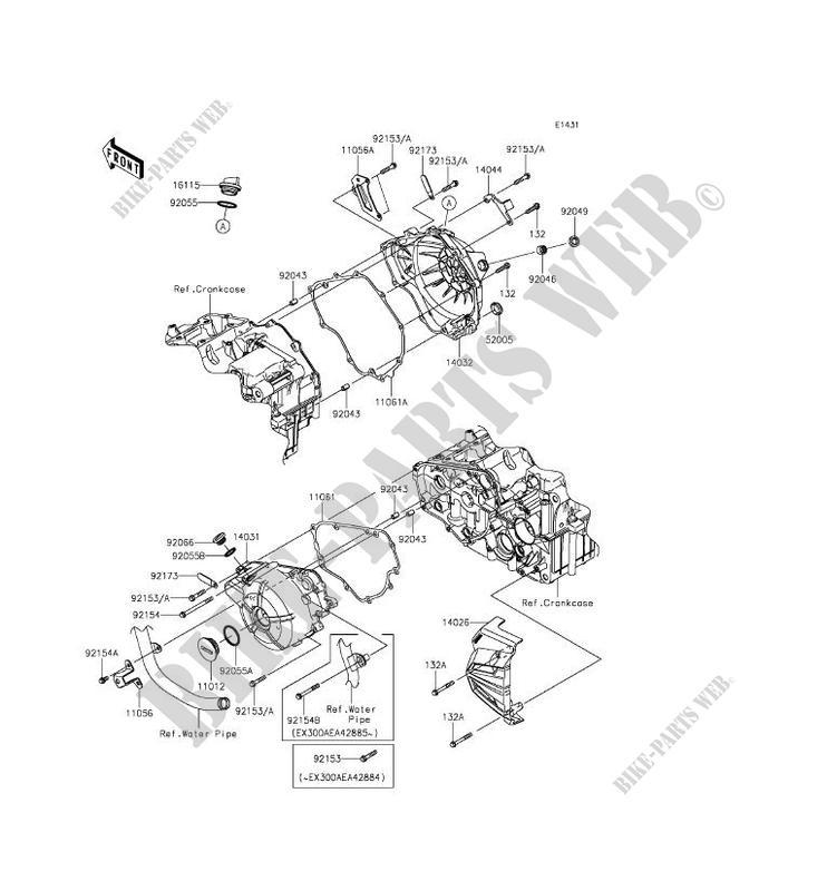 ENGINE COVERS for Kawasaki NINJA 300 2014 # KAWASAKI - Genuine Spare Parts  Catalog Online | 2014 Ninja 300 Engine Diagram |  | Kawasaki Genuine Spare Parts Catalogue