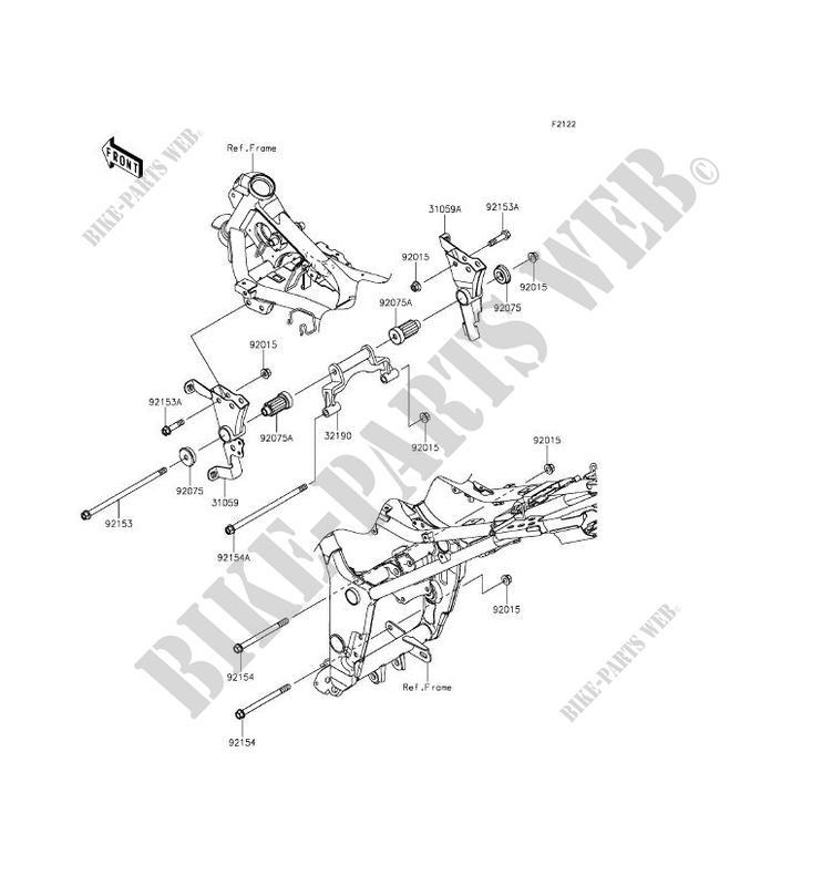 ENGINE MOUNT for Kawasaki NINJA 300 2014 # KAWASAKI - Genuine Spare Parts  Catalog Online | 2014 Ninja 300 Engine Diagram |  | Kawasaki Genuine Spare Parts Catalogue