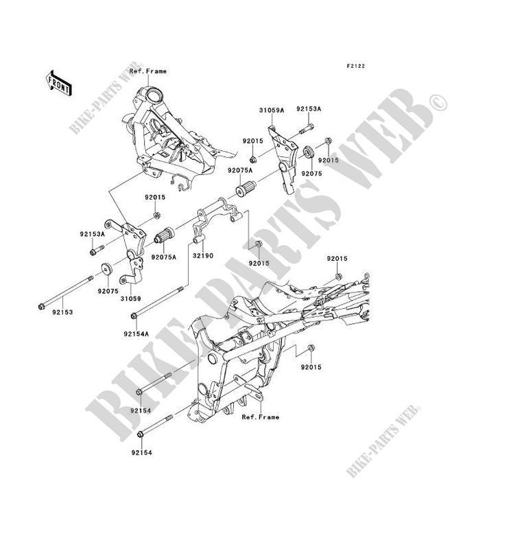 ENGINE MOUNT for Kawasaki NINJA 300 ABS 2014 # KAWASAKI - Genuine Spare  Parts Catalog Online | 2014 Ninja 300 Engine Diagram |  | Kawasaki Genuine Spare Parts Catalogue