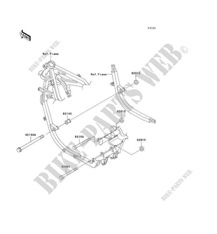 Engine Mount For Kawasaki Gpz500s 2003 Kawasaki Genuine Spare Parts Catalog Online
