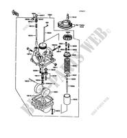CARBURETOR for Kawasaki KE100 1992