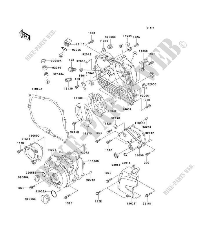 ENGINE COVERS for Kawasaki SUPER SHERPA 2000 # KAWASAKI - Genuine Spare  Parts Catalog OnlineKawasaki