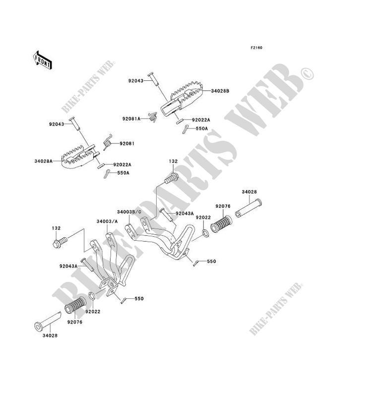 PIN Kawasaki 92043-1464