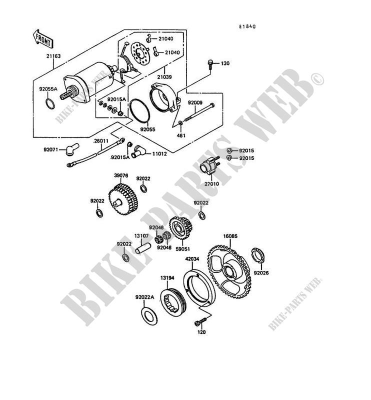 Starter Motor For Kawasaki Klr600 1989   Kawasaki
