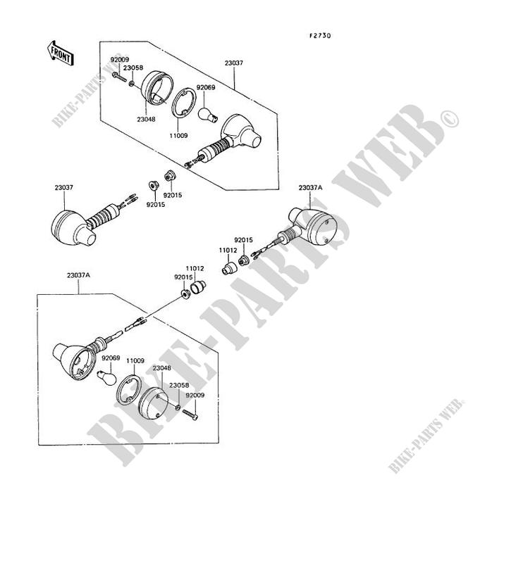 Kawasaki Klr650 A9 1995 Motorcycle Electrical Wiring Diagram ... on