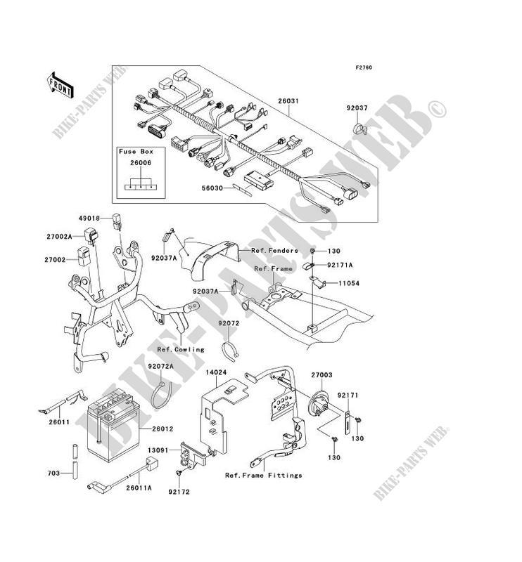 Chassis Electrical Equipment Kl650ecf Klr650 2012 650 Motos Kawasaki