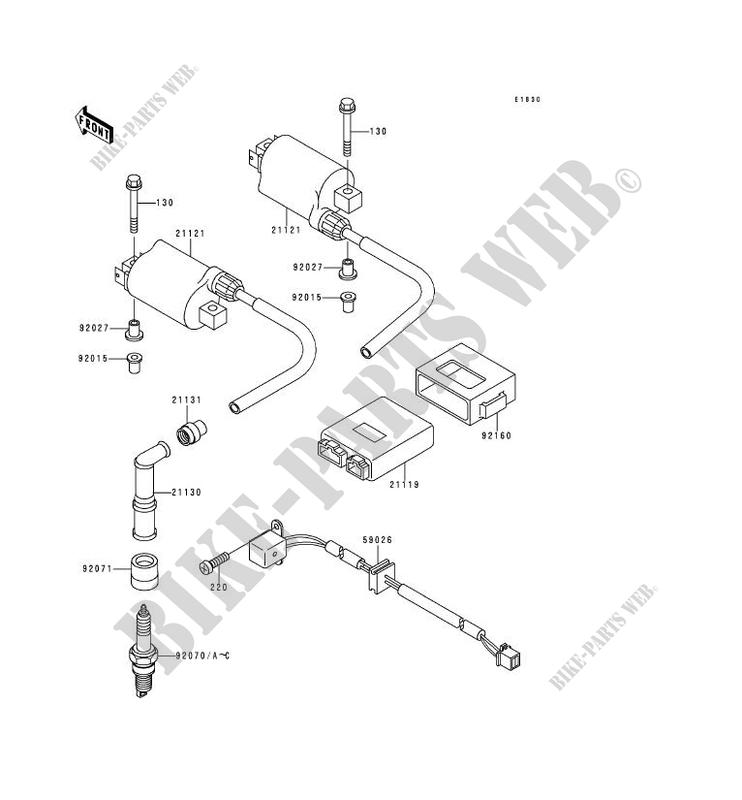 IGNITION SYSTEM for Kawasaki KLE500 1995 # on