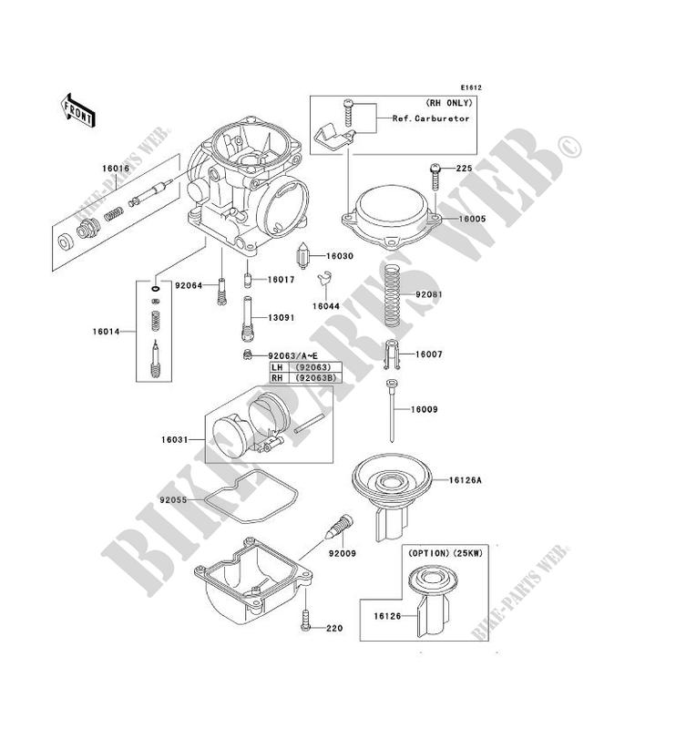 Kawasaki Carburetor Parts
