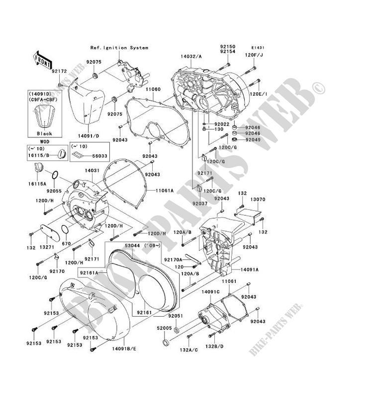 for Kawasaki 11061-0209 Stator Cover Gasket