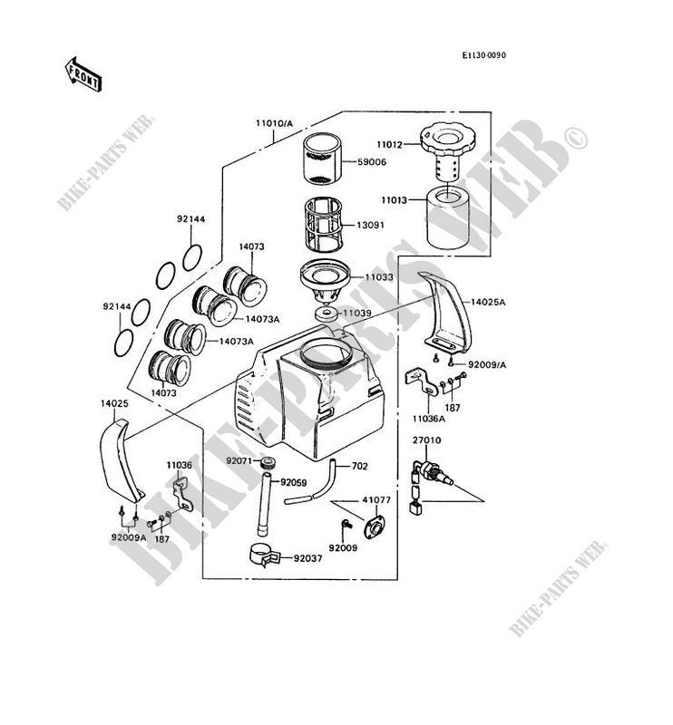 air filter kawasaki gt750 1994 750 z750 p9 12288. Black Bedroom Furniture Sets. Home Design Ideas