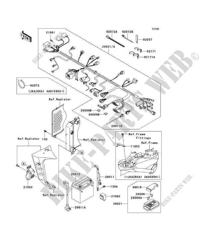 CHASSIS ELECTRICAL EQUIPMENT for Kawasaki Z1000 2003 # KAWASAKI - Genuine  Spare Parts Catalog Online | 2003 Z1000 Wiring Diagram |  | Kawasaki Genuine Spare Parts Catalogue