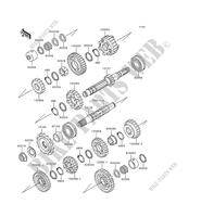 TRANSMISSION for Kawasaki ZEPHYR 1100 1992