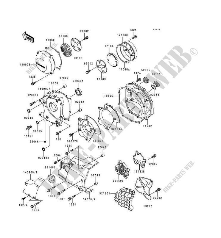 KAWASAKI Genuine New Motorcycle Parts Zephyr1100 Oil Seal 920491017